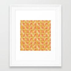 Scattered Leaves on Beige Framed Art Print