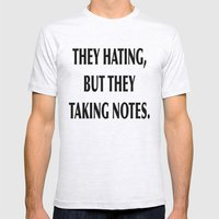 HATERS Mens Fitted Tee Ash Grey SMALL