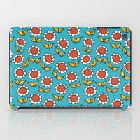 Floral mix sunflowers blue iPad Case