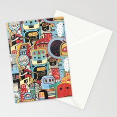 Two monkeys in town Stationery Cards