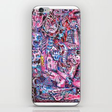 Blue & pink portrait.  iPhone & iPod Skin