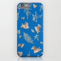 Blue Holiday Corgis And … iPhone 6 Slim Case