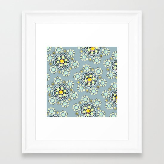 Bunches of Yellow flowers Framed Art Print