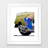 Kick Off In Style Framed Art Print