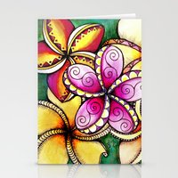 Plumerias Stationery Cards