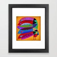 ROOSTER PLUMAGE Framed Art Print