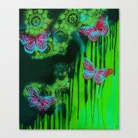 Teal Wings Canvas Print