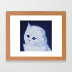 Miss Kitty painting Framed Art Print