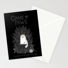 Game of Paws Stationery Cards