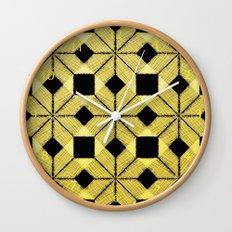 Golden Snow Wall Clock