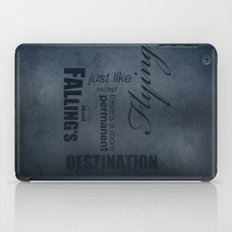 No. 8. Falling's just like Flying iPad Case