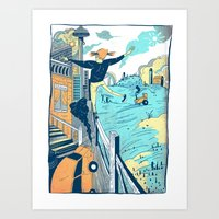 The City Vs. Country Art Print