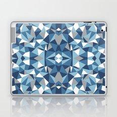 Abstract Collide Blues Laptop & iPad Skin