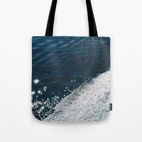 sea - midnight blue silk Tote Bag