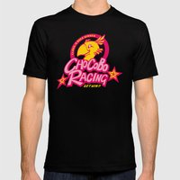 Chocobo Racing Mens Fitted Tee Black SMALL