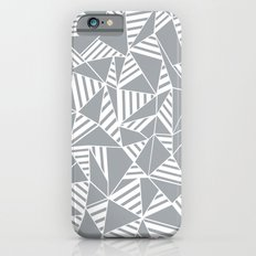 Abstract Lines B Grey Slim Case iPhone 6s