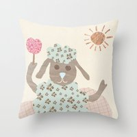 Sheep Collage Throw Pillow