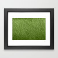 Leather Texture (Green) Framed Art Print