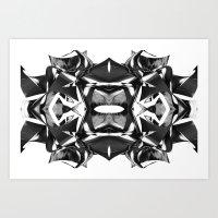 Black & White Warp II Art Print