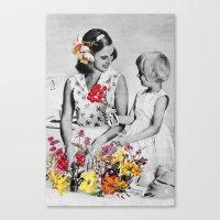 Plantae Wash Out Canvas Print
