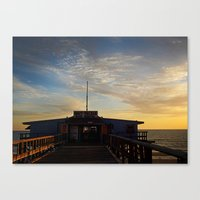 Sunset beyond the Tackle Shack  Canvas Print