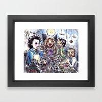 Dinner with the Family Framed Art Print