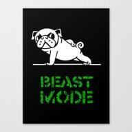 Beast Mode Pug Canvas Print
