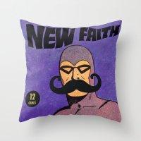 Phantom Moustache Throw Pillow