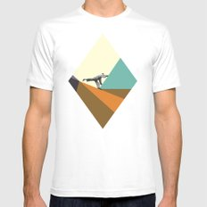 Deconstructing White Mens Fitted Tee SMALL