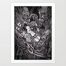 Alien Abduction - The Mouse Art Print
