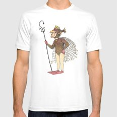 El pescado White Mens Fitted Tee SMALL