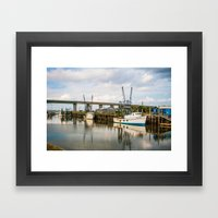 At the Dock Framed Art Print