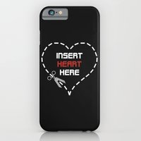 iPhone & iPod Case featuring Insert Heart Here by Hiver & Leigh