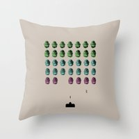 Faceinvaders Throw Pillow