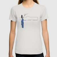 Slipping Away Womens Fitted Tee Silver SMALL