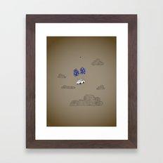 van-based journey Framed Art Print