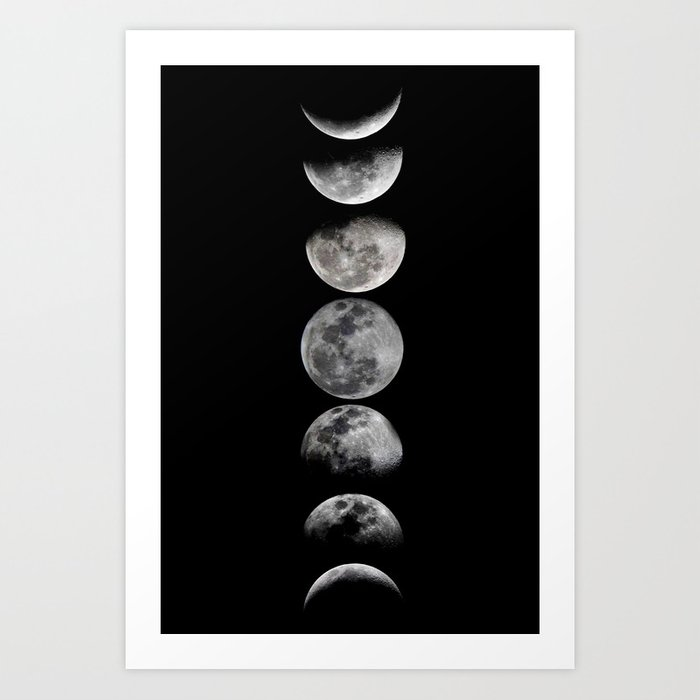 Sunday's Society6 | Phases of the moon art print