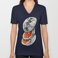 In which there is a mandarin in the moon Unisex V-Neck