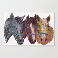 Horse Triptych #2 Canvas Print
