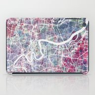 iPad Case featuring Brisbane Map by MapMapMaps.Watercolo…