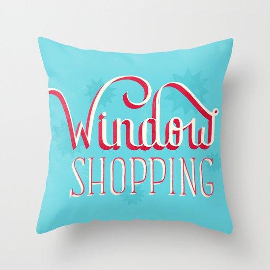 Window Shopping Throw Pillow