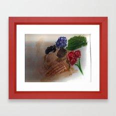 Gesso Scan Framed Art Print