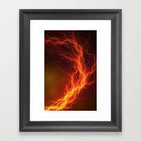 Fire and Lightning Framed Art Print