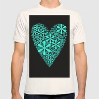 asterisk heart Mens Fitted Tee Natural SMALL