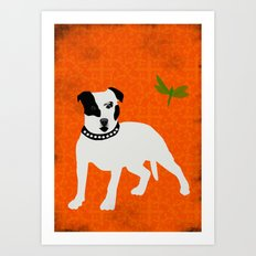 Staffordshire Bull terrier Dog Art Art Print