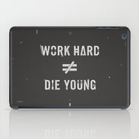 Work Hard, Die Young / Dark iPad Case