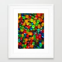 Color Balls Framed Art Print