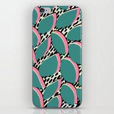 80s leaf pattern iPhone & iPod Skin