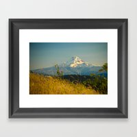 Mount Hood From Courtney… Framed Art Print