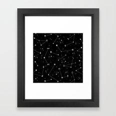 Constellations (Black) Framed Art Print